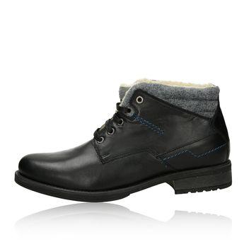 Robel pánska módna členková obuv - čierna