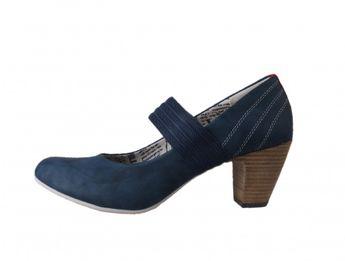 s.oliver dámske modré lodičky na suchý zips