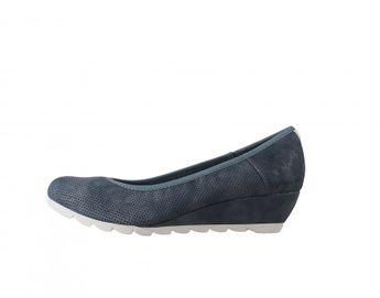 s.oliver dámske pohodlné lodičky - modrošedé