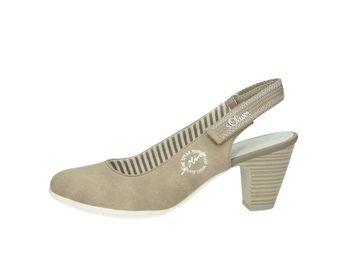 s.Oliver dámske štýlové sandále - béžové