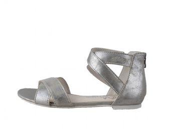 s.oliver dámske sandále - strieborné