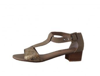 s.oliver dámske sandále - béžové