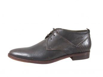 Daniel Hechter šedé pánske členkové kožené topánky