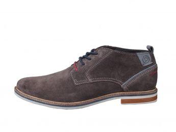 Bugatti pánske semišové topánky - šedé