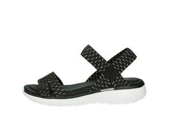 Skechers dámske sandále - čierne