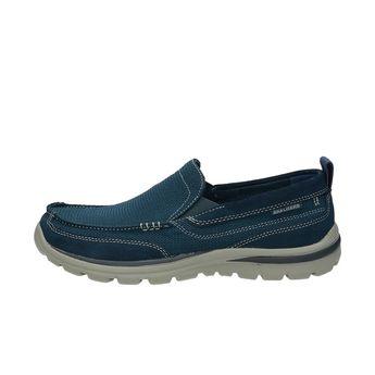 Skechers pánske pohodlné poltopánky - modré