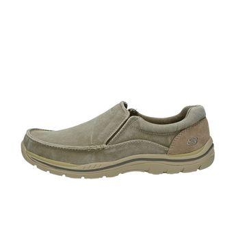 Skechers pánske textilné tenisky - šedé