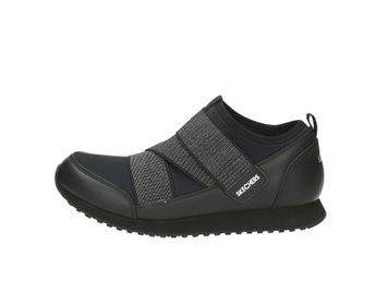 Skeches dámske tenisky na suchý zips - čierne