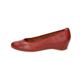 Tamaris dámske balerínky - červené