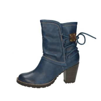 Tamaris dámske čižmy - modré