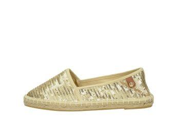 Tamaris dámske elegantné espadrilky s trblietkami - zlaté