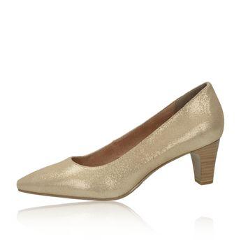 Tamaris dámske elegantné lodičky - zlaté