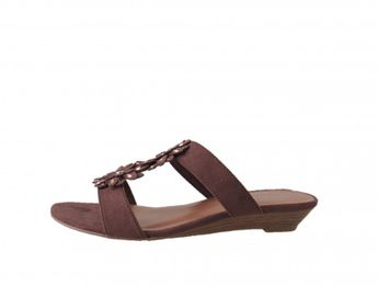 Tamaris dámske hnedé kvetinkové sandále