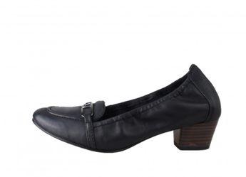 Tamaris dámske kožené lodičky s prackou - čierne