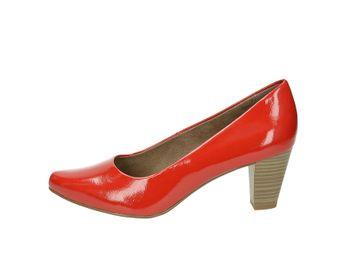 Tamaris dámske lesklé lodičky - červené