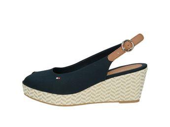 Tommy Hilfiger dámske pohodlné sandále s remienkom - modré