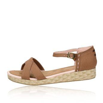 Toms dámske sandále s remienkom - hnedé