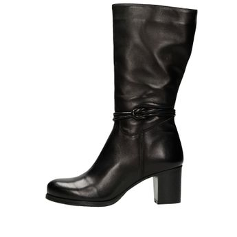 Acord dámske kožené nízke čižmy - čierne