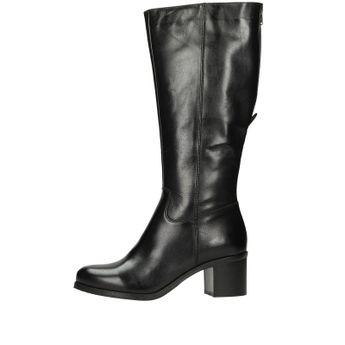 Acord dámske kožené vysoké čižmy - čierne