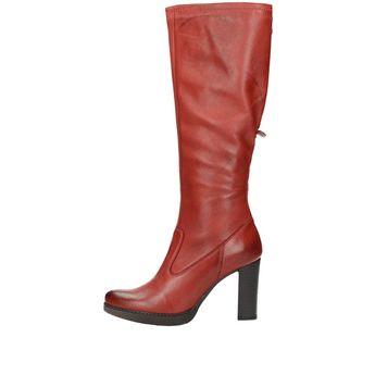 Acord dámske vysoké čižmy - červené 8dba87b9986