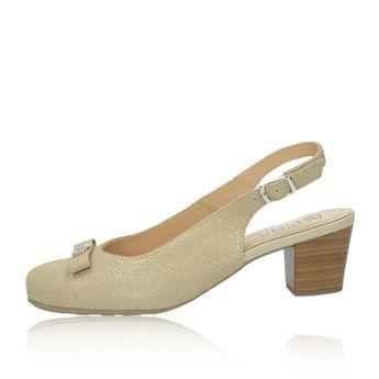 Alpina dámske kožené sandále s remienkom - béžové e679914585d
