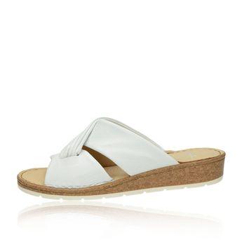 Ara dámske kožené pohodlné šľapky - biele