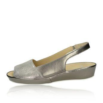 9a589368aa Ara dámske kožené sandále - strieborné Ara dámske kožené sandále -  strieborné
