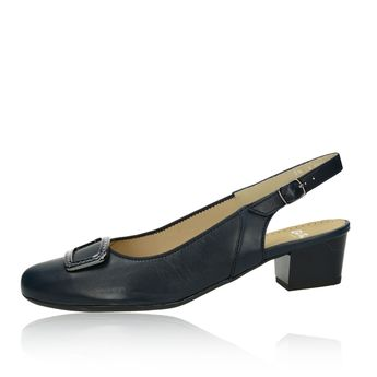 15dc0ec4aa9e Ara dámske kožené sandále - tmavomodré