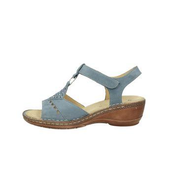 Ara dámske nubukové štýlové sandále na suchý zips - modré