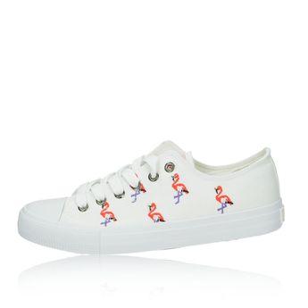 Big Star dámske plátené tenisky - biele