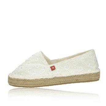 Big Star dámske pohodlné espadrilky - biele