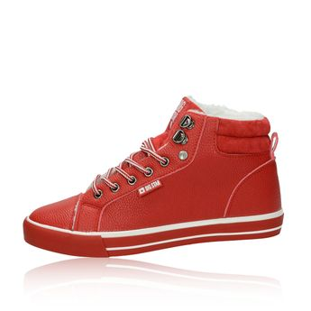 Big Star dámske štýlové zateplené tenisky - červené a6587318a29