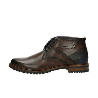 Bugati pánska kožená členková obuv - tmavohnedá