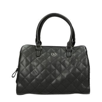 Bugatti dámska kožená štýlová kabelka - čierna