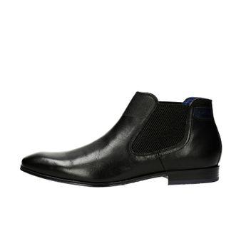122922118517 Bugatti pánska kožená chelsea členková obuv - čierna