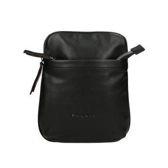 Bugatti pánska kožená crossbody taška - čierna