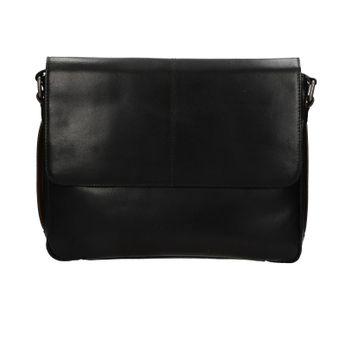 Bugatti pánska kožená laptopová taška - čierna
