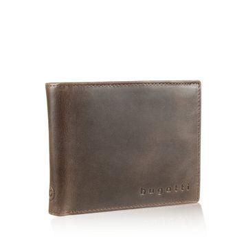 Bugatti pánska kožená peňaženka - hnedá