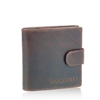 Bugatti pánska kožená peňaženka - tmavohnedá