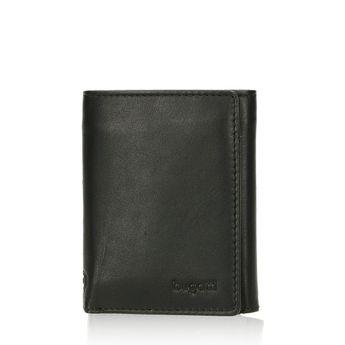 Pánska malá kožená peňaženka - čierna