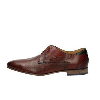 Bugatti pánske kožené spoločenské topánky - bordové