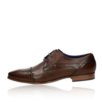 Bugatti pánske kožené spoločenské topánky - hnedé
