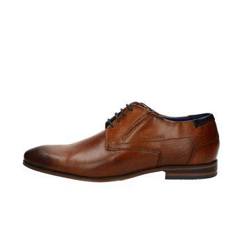 Bugatti pánske kožené spoločenské topánky - koňakové Bugatti pánske kožené  spoločenské topánky - koňakové 01288baa7a9