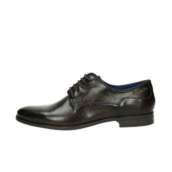 Bugatti pánske spoločenské kožené topánky - tmavohnedé