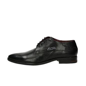 Bugatti pánske štýlové spoločenské topánky - čierne 78167f5ea74