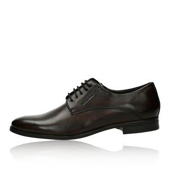 Bugatti pánske štýlové spoločenské topánky - tmavohnedé