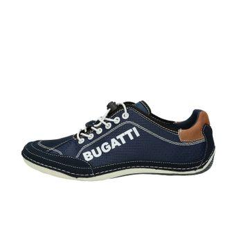 185303180384c Bugatti pánske štýlové tenisky - tmavomodré