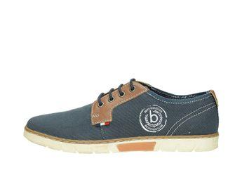 Bugatti pánske textilné poltopánky - modré 58669a61bc9