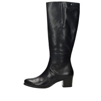 Caprice dámske kožené vysoké čižmy - čierne