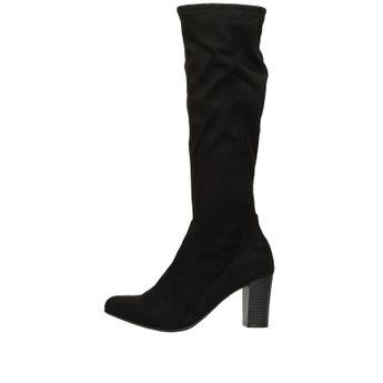 Caprice dámske textilné vysoké čižmy - čierne